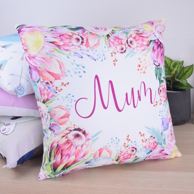 Protea Floral Personalised Cushion