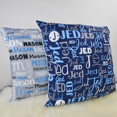 Modern Name Cushion Cover