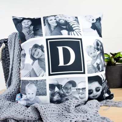 Monochrome Tile Photo Cushion Cover