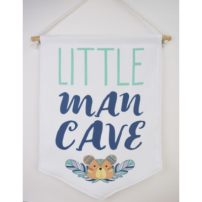 Little Man Cave Pennant Banner