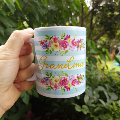 Mint Bouquet Personalised Mug