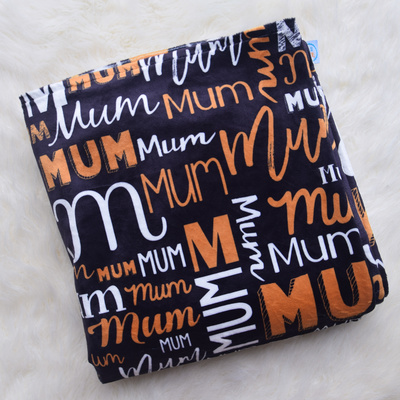 Mums Personalised Blanket (BLK/GOLD/WHITE)